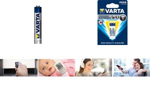 "VARTA Alkaline Batterie ""ProfessLR6, 1,5 Volt, 640 mAh, Durchmes"