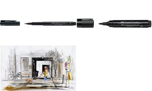 tekenstift Faber Castell Pitt   Artist Pen Big Brush 199 zwart