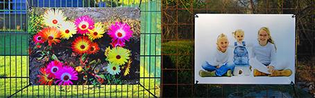 Uw eigen foto geprint op weerbestendig tuindoek