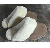 Pantoffel slippers van schapenvacht