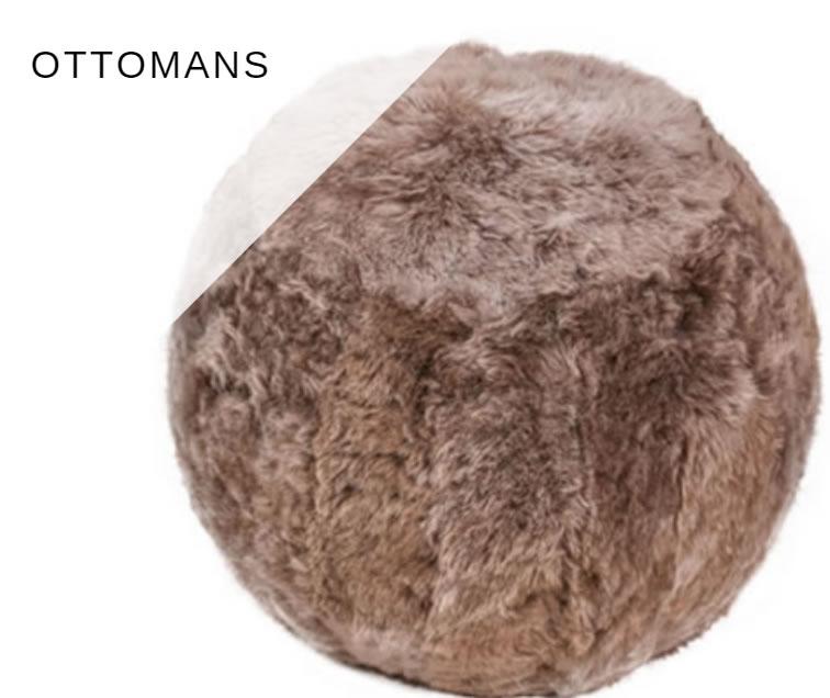 ottoman van schapenvacht