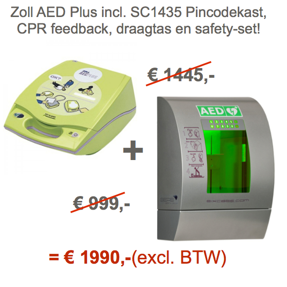 Zoll Plus AED + SixCase SC1435 Pincodekast