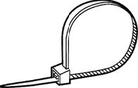 PA 6.6 KABELBINDER ZWART 140X3,6 per 100