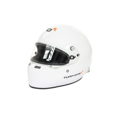 Turn One Full Face helmet with HANS clips white