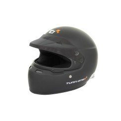 Turn One Full Face helmet with HANS clips black