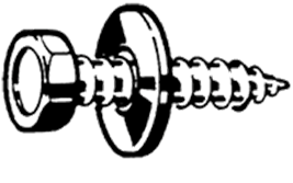 EVZ PLAATB/PUNT+RING ST4,8X16MM