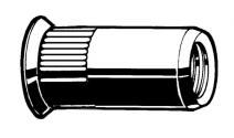 RVS A2 BLKLMR OPEN VERZONKENKOP  M6 PLAAT 1,5-4,0