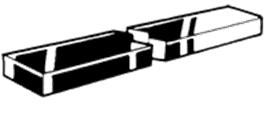 D6880 INLSP VLAK 1MTR 6X6MM