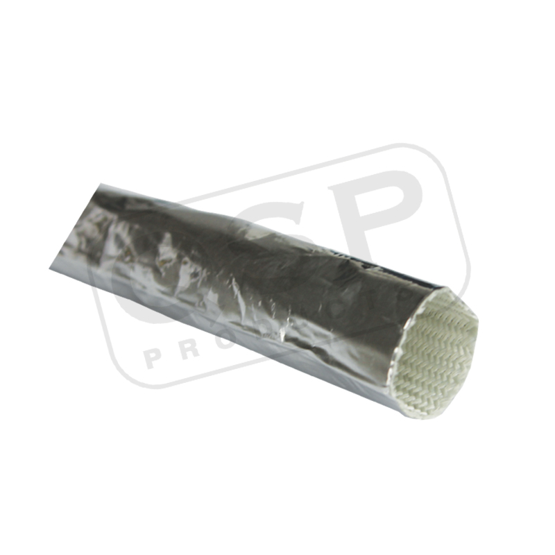 Aluminized Fiberglass Sleeve 10mm 1 mtr 950 Dgr