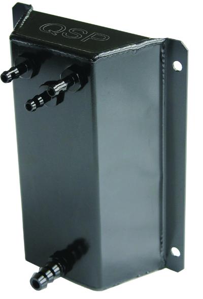 Aluminium Fuel Catchtank Pro series 1 ltr 3x 8mm + 1x 12mm pilar