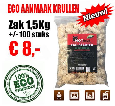 Maxi Zak 1,5Kg Eco Aanmaak Houtkrullen
