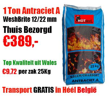 Pallet 1.000Kg Kolen 100% Antraciet A 12-22mm