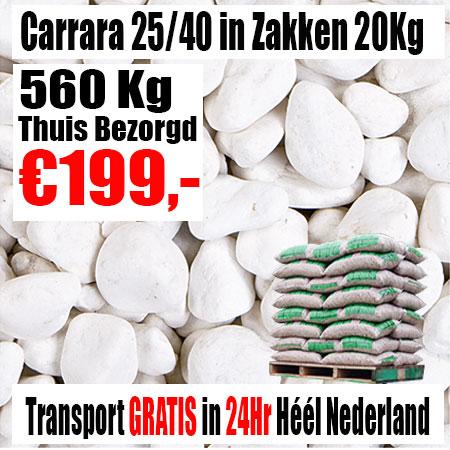Carrara Wit 25-40 mm zak 20Kg