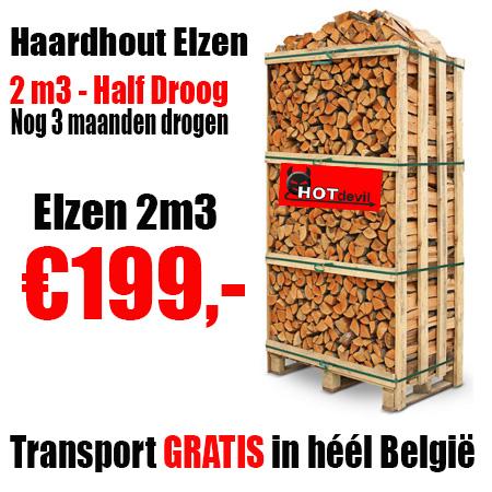 Pallet 2m3 Haardhout ELZEN Halfdroog