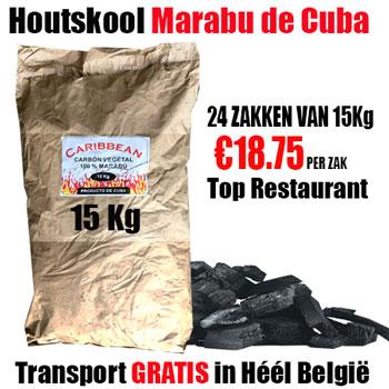 Pallet 360Kg Marabu de Cuba Houtskool