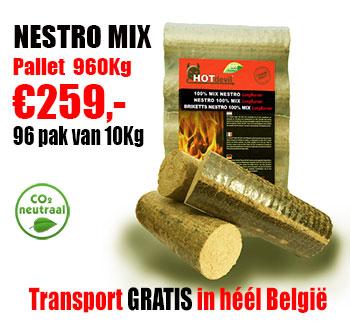 Pallet 960Kg NESTRO MIX briketten