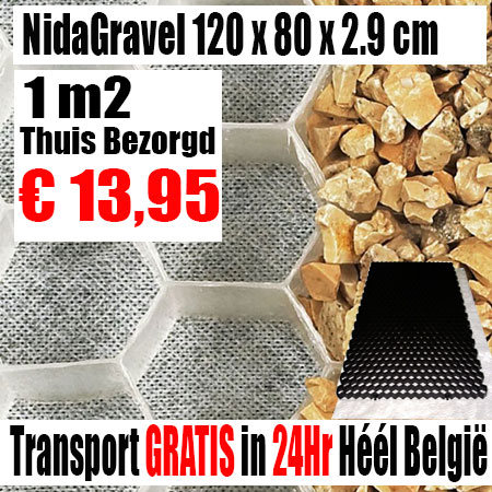 NidaGravel Grindplaat 120 x 80 x 2,9 mm
