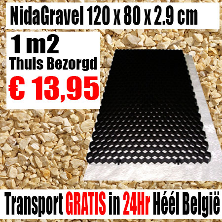 NidaGravel Grindplaat 120 x 80 x 2,9 mm