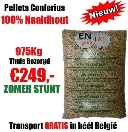Pallet 975Kg ENplusA1 Naaldhout Pellets