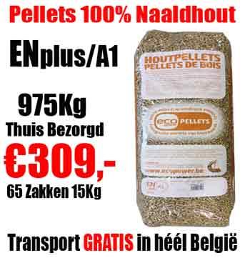 Pallet 975Kg Naaldhout Pellets