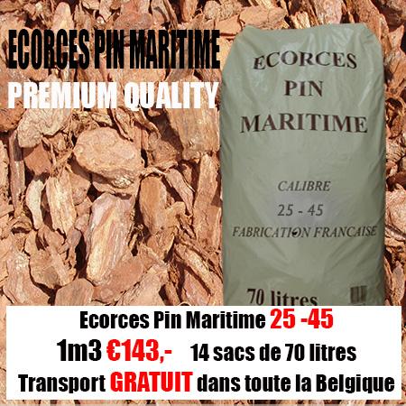 3 m3 Ecorce de l´arbre Pin Maritime 25-45