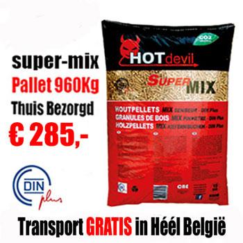 960Kg DIN+ Pellets Mix Naaldhout - Beuk