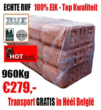Pallet 960Kg Echte RUF EIK Briketten