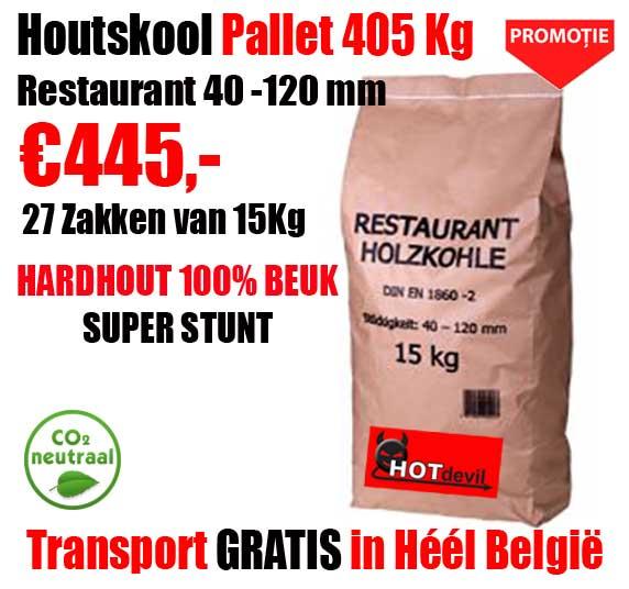 Pallet 405 Kg Restaurant Houtskool Beuk