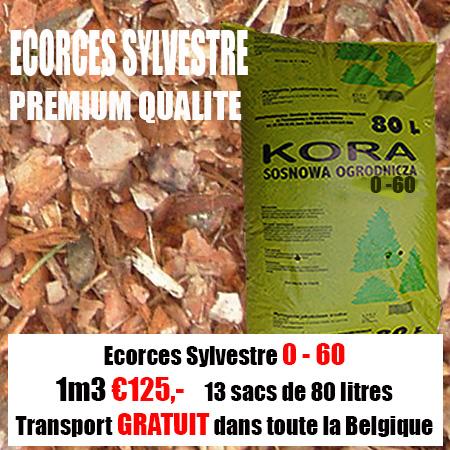 3,12 m3 Ecorce Sylvestre 0-60mm
