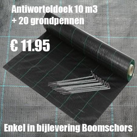 10 m2 worteldoek + 20 Grondpennen