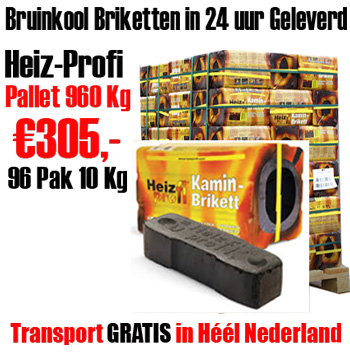 Pallet 960Kg bruinkool Briketten