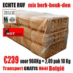 Pallet 960Kg Echte RUF MIX Briketten