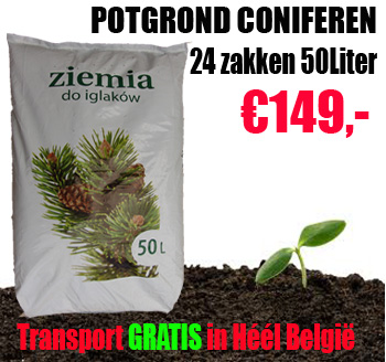 Potgrond zak 50 liter voor struiken en Coniferen