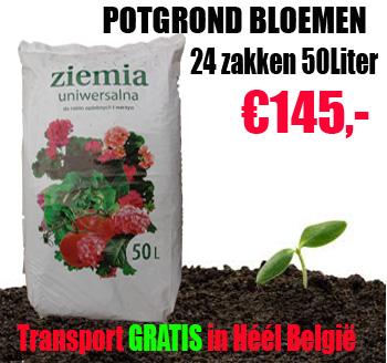 Potgrond zak 50 liter voor bloemen en geraniums