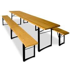 Inklapbare biertafel met banken, makkelijk vervoerbaar ingeklapt 110cm uitgeklapt 220cm
