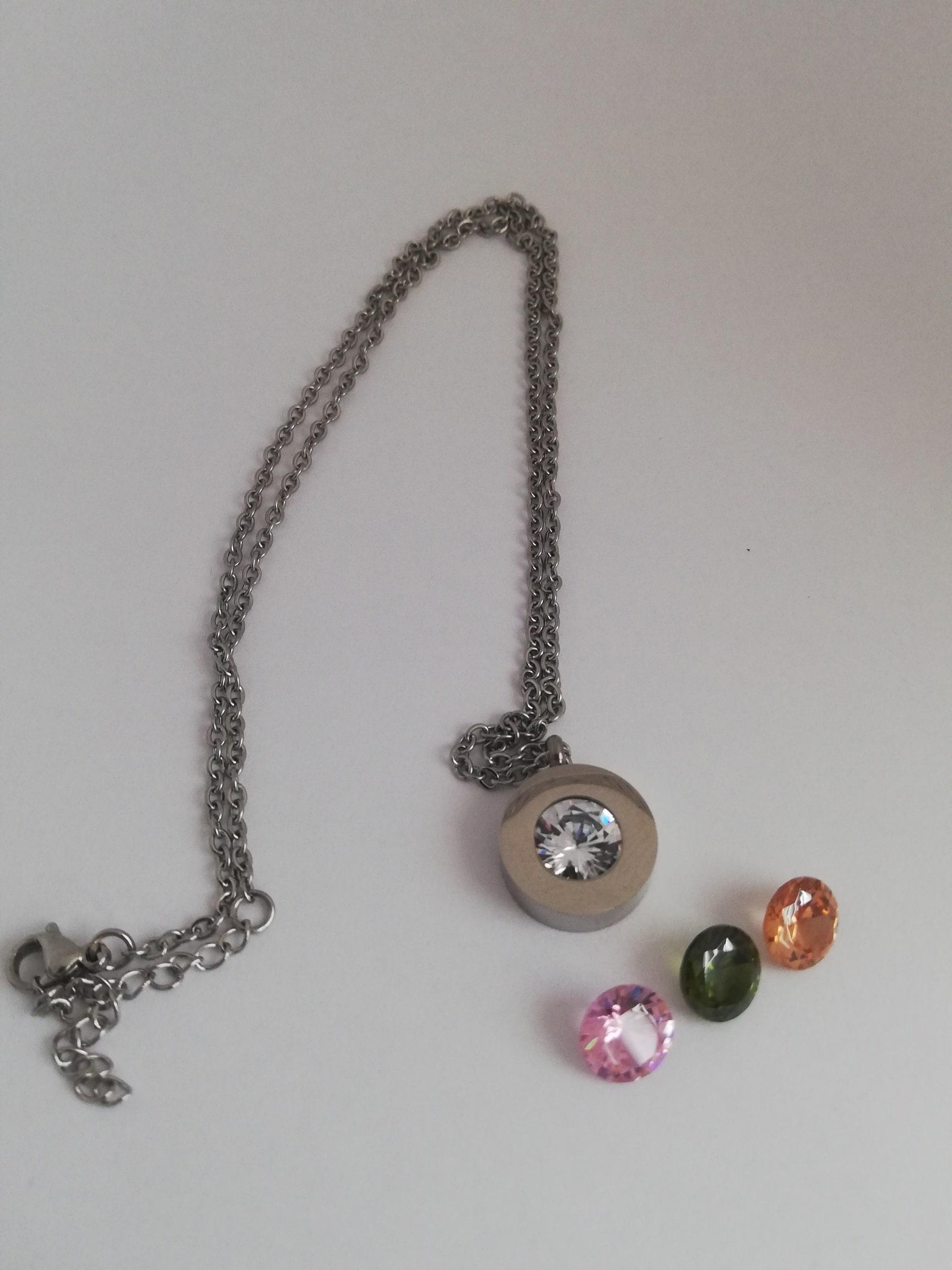 RVS basisketting zilver - incl. 4 kleuren tops