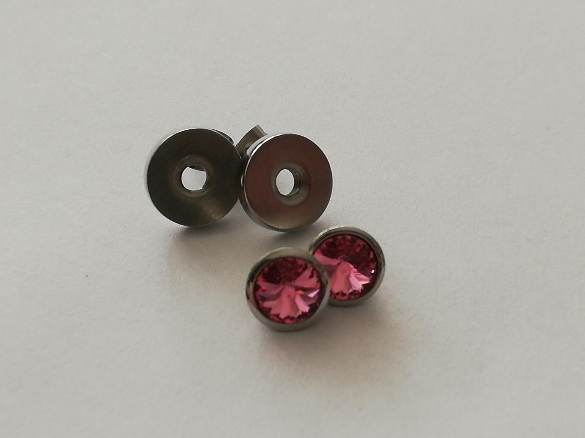 RVS basisoorbellen - inclusief tops roze