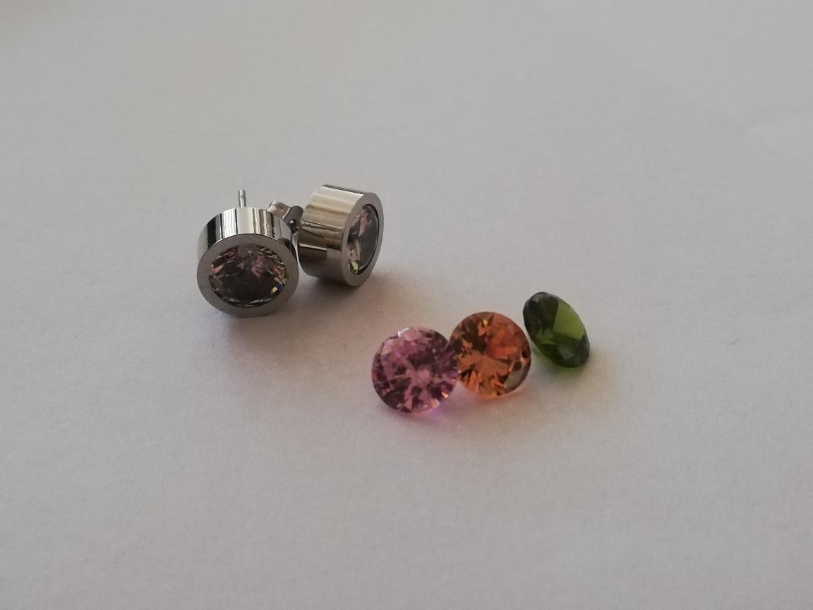 RVS basisoorbellen zilver - incl. 4 kleuren tops