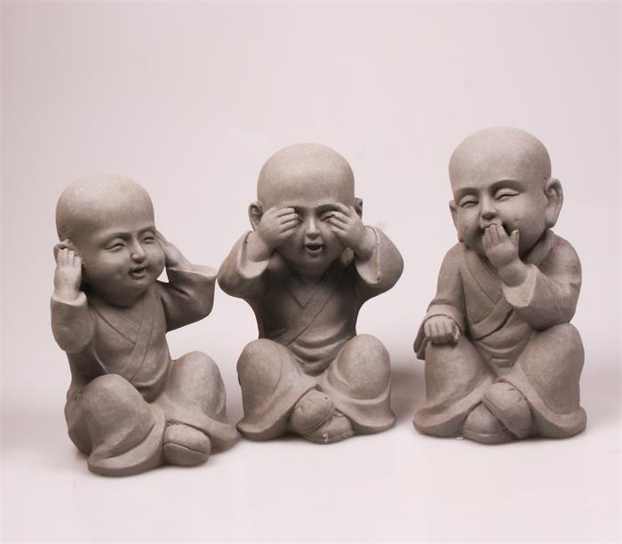 Boeddhabeeld Horen Zien Zwijgen