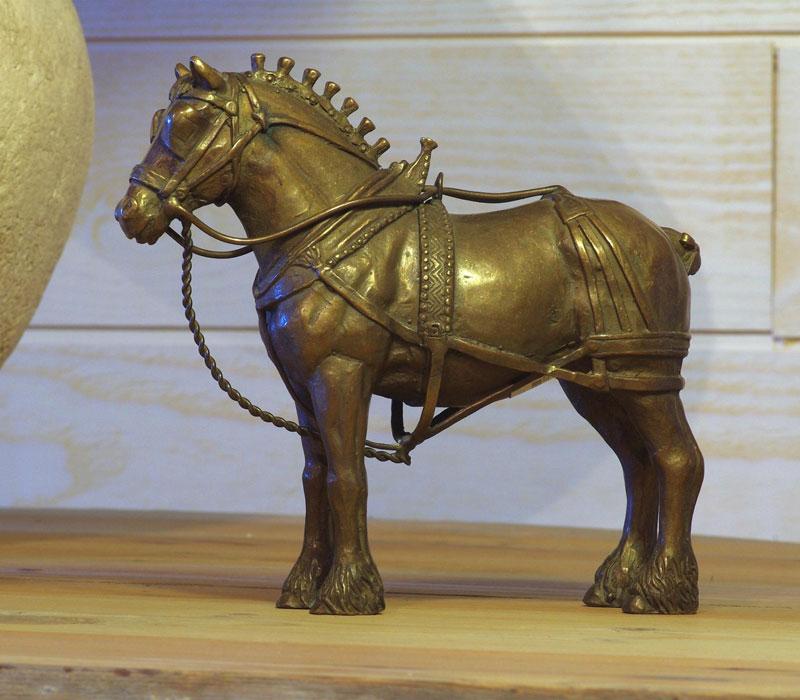 Bronzen beeld Brabants trekpaard