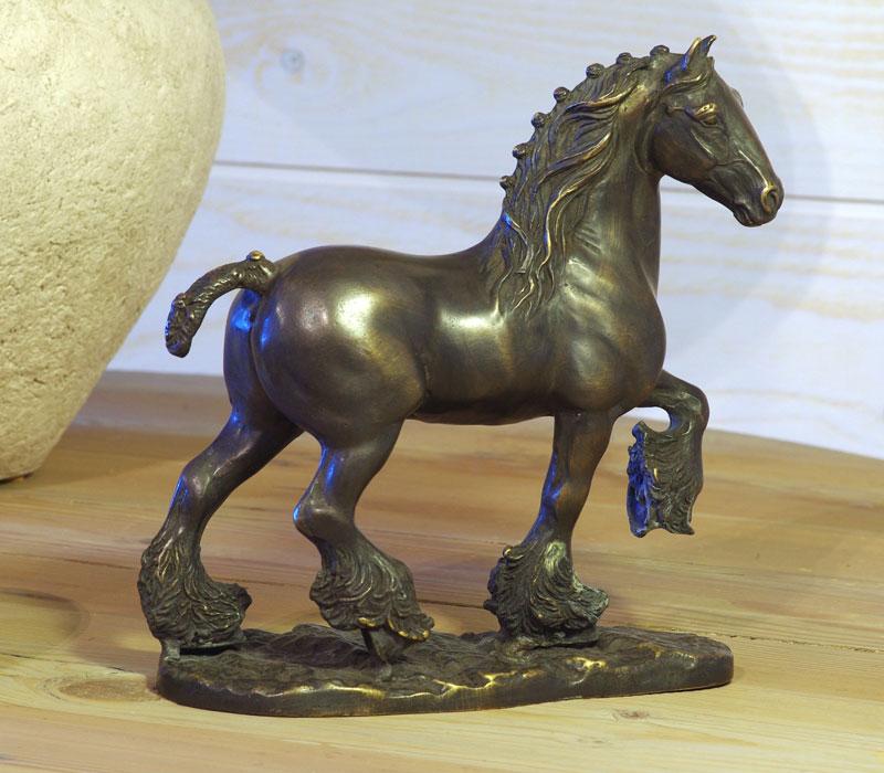 Bronzen beeld boerenpaard