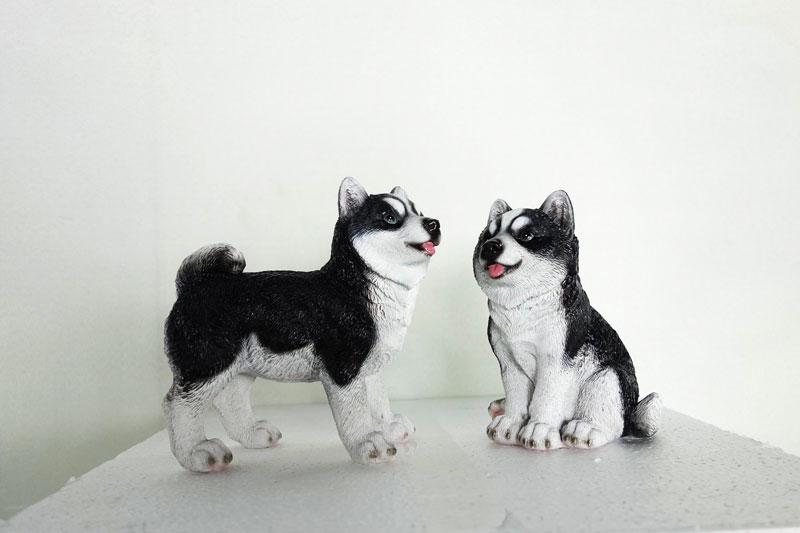 Husky beelden als set