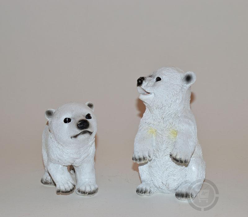 Dierenfiguur IJsberen als set levensecht