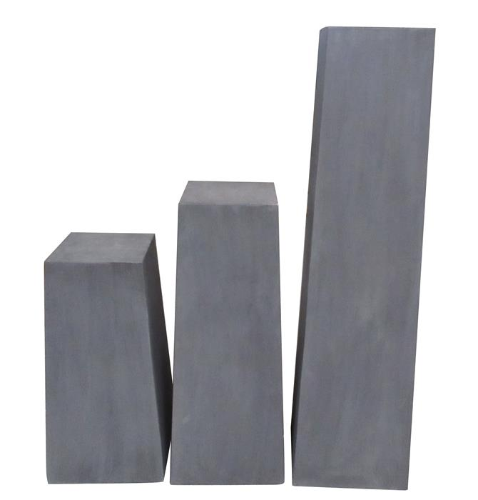 Abstracte sokkel  zwart 80CM