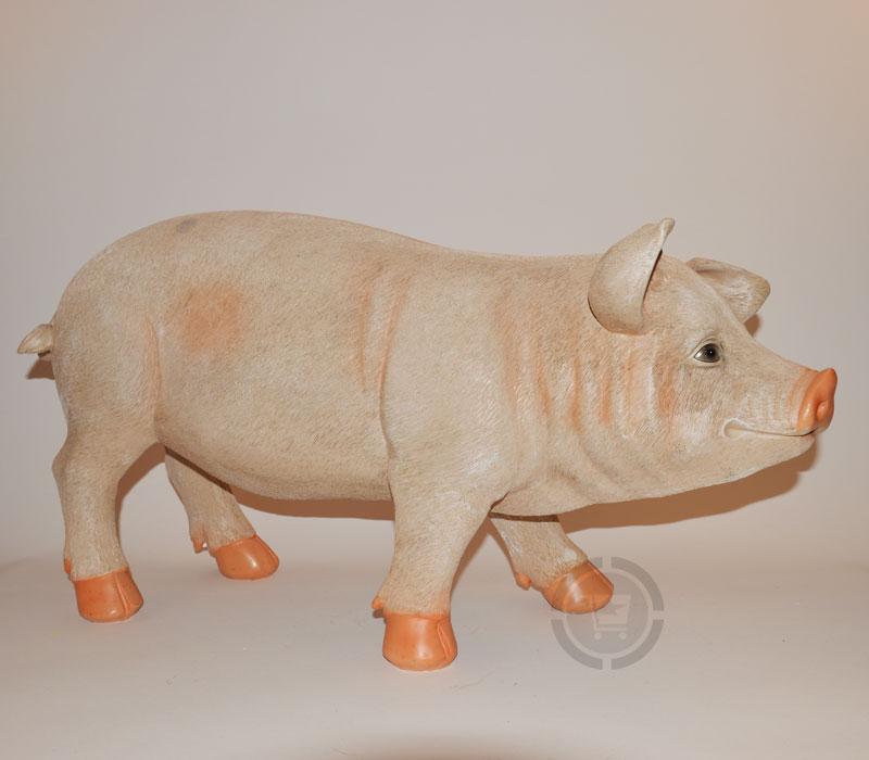 Dierenfiguur varken staand levensecht