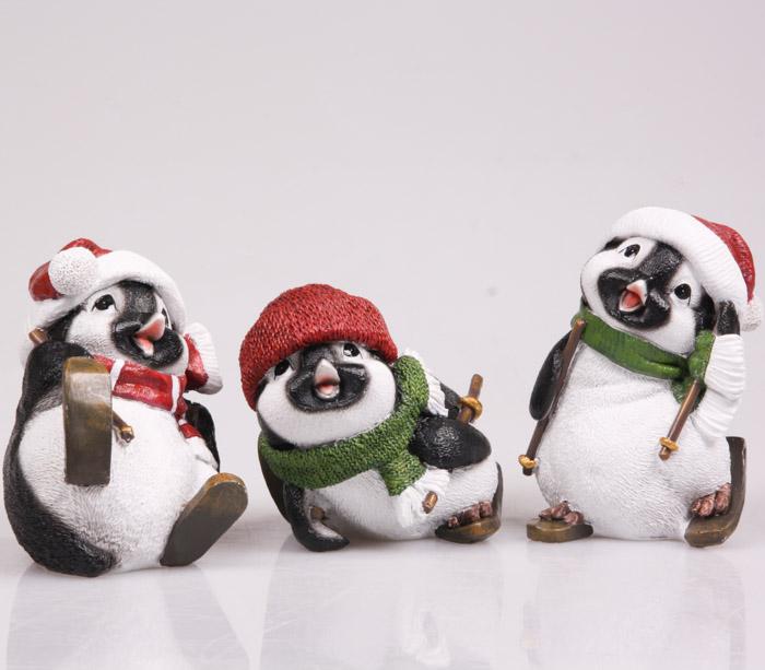 Beeld pinguins kerst