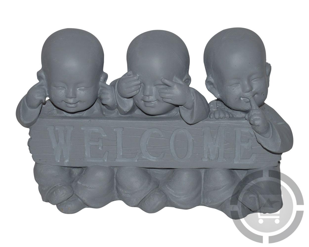 Horen zien en zwijgen beeldjes boeddha