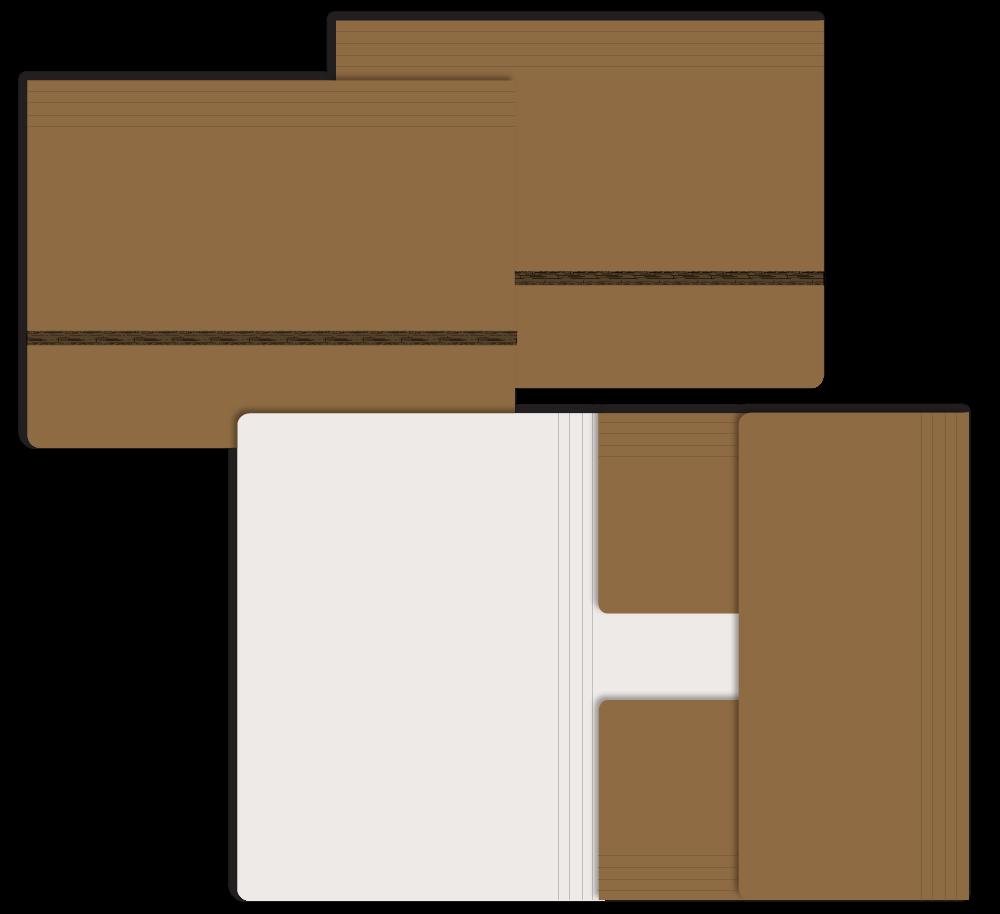 Opslagmap  t.b.v. B4 <br/> geschikt voor B4partituren/dokumenten, bruin