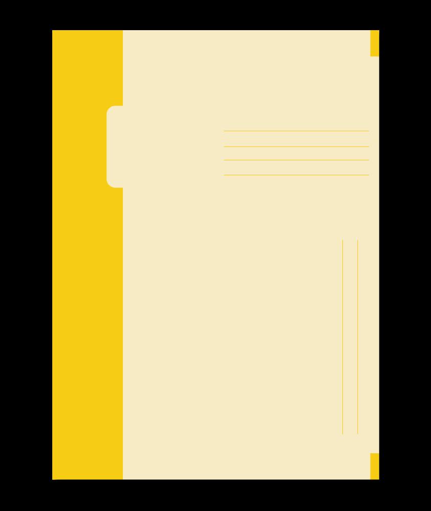 Trias binnenmap, yellow