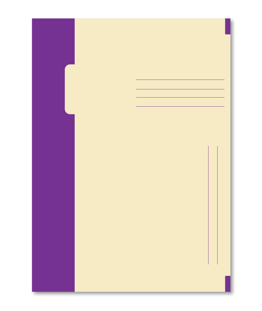 Trias binnenmap, purple